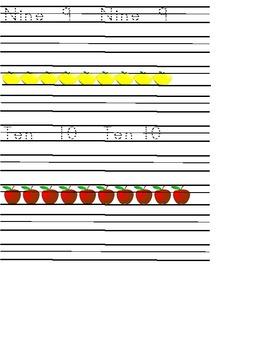 Kindergarten Math Bundle Apple Theme with Common Core Standards
