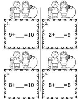 Kindergarten Math Bundle - Scoot Game/Task Cards