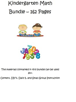 Kindergarten Math Bundle for Centers, DIY's, Daily 5, and