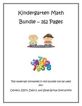 Kindergarten Math Bundle with Common Core Standards