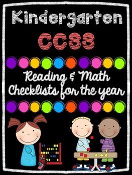 Kindergarten Math & Reading CCSS Checklists