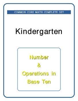 Kindergarten Math - Common Core - Numbers & Operations in Base Ten - cut & paste