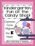 Kindergarten Math Candy Shop Pack