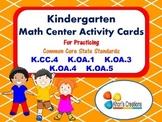 Kindergarten Math Center Activity Cards