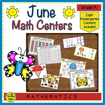 Kindergarten Math Center Games--June