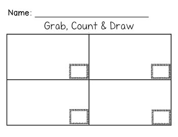 FREEBIE Kindergarten Math Center: Grab, Count & Draw