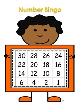 Kindergarten Math Center - Number Bingo - Number Recognition