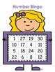 Kindergarten Math Center - Number Bingo - Number Recognition