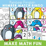 Kindergarten Math Center Number Match - Penguin Theme