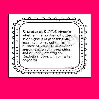 Kindergarten Math Center Number Mats