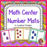 Kindergarten Math Center Number Mats