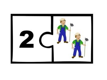 Kindergarten Math Center Number Puzzles