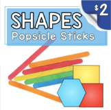Kindergarten Math Center - Problem Solving - Popsicle Stick Geometry