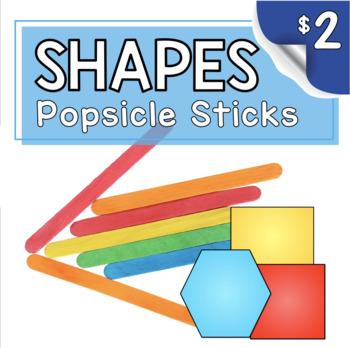 Kindergarten Math Center - Problem Solving - Popsicle Stick Geometry