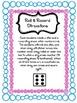 Kindergarten Math Center-Roll & Record-Back to School