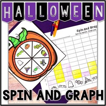 Kindergarten Math Center - Spin and Graph