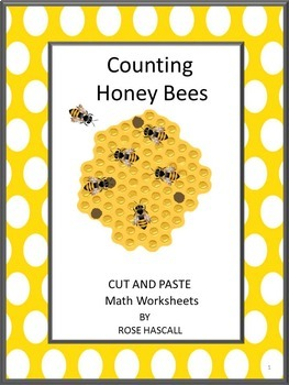 Counting Honey Bees Cut and Paste Worksheets