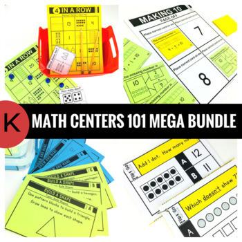 Kindergarten Math Centers 101 MEGA BUNDLE
