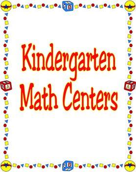 Kindergarten Math Centers 2