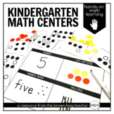 Kindergarten Math Centers: 20 Centers & Visual Directions