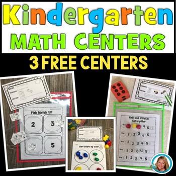 Math Centers Kindergarten | FREE Math CENTERS