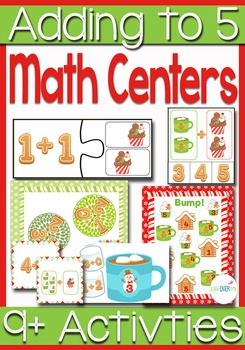 Addition Math Centers & Activities: Adding up to 5