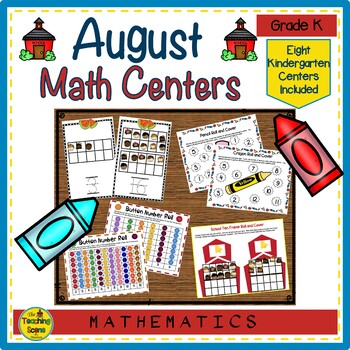 Kindergarten Math Centers--August