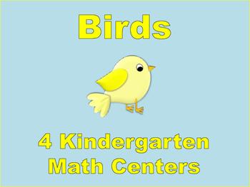 Kindergarten Math Centers: Birds