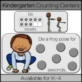 Kindergarten Math Centers: Counting & Cardinality Cards