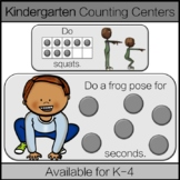 Kindergarten Distance Learning Math Centers: Counting & Ca