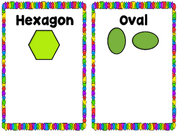 Kindergarten Math Centers (Color, Shape and Size Sorting Mats & Shape Games)