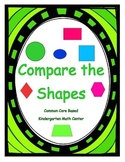 Kindergarten Math Centers - Compare the shapes