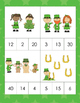 Kindergarten Math Centers - Count and Clip Cards - St. Patricks Day Theme