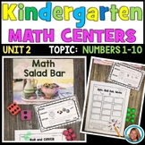 Kindergarten Math Centers - Counting and Cardinality Numbers 1 to 10