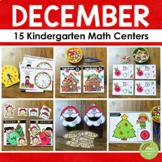 Kindergarten Math Centers - DECEMBER