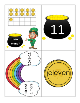 Kindergarten Math Centers - Decomposing 11-19 - St Patricks Day Theme