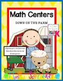 Kindergarten Math Centers: Down on the Farm