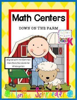 Kindergarten Math Centers: Down on the Farm