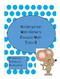 Kindergarten Math Centers Envision Math Centers Topic 6