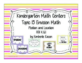 Kindergarten Math Centers: Envision Math Topic 15 Common C