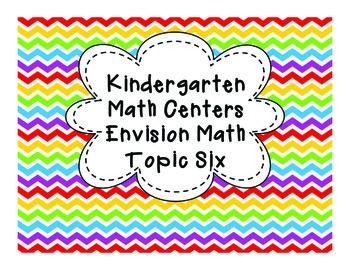 Kindergarten Math Centers: Envision Math Topic 6 Common Core Aligned