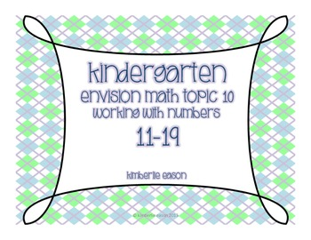Kindergarten Math Centers (Envision Math Topic Ten)