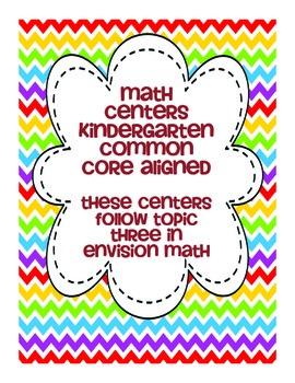 kindergarten envision math topic three centers tpt. Black Bedroom Furniture Sets. Home Design Ideas