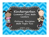 Kindergarten Envision Math Topic Two Centers
