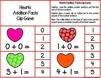 Kindergarten Math Centers--February