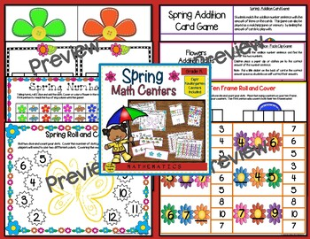 Kindergarten Math Centers Four Seasons Bundle