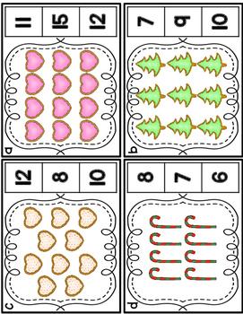 Kindergarten Math Centers: Gingerbread Theme CCSS Aligned