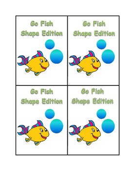"Kindergarten Math Centers - Go Fish ""Shape Edition"""