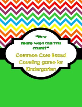Kindergarten Math Centers - How many ways can you count? Math Game