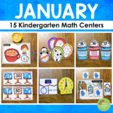 Kindergarten Math Centers - JANUARY
